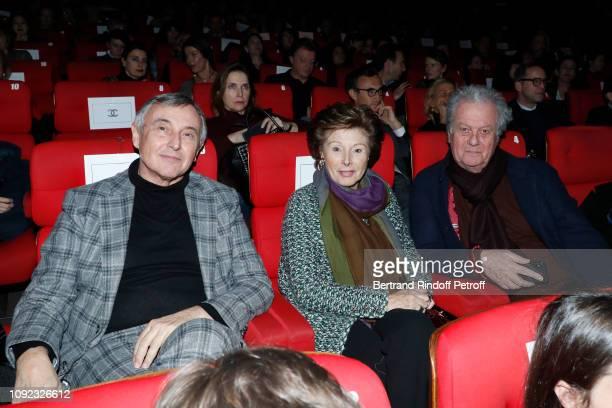 Pierre Passebon MarieLouise de ClermontTonnerre Jacques Grange attend the Colette Paris Premiere at Cinema Gaumont Marignan on January 10 2019 in...