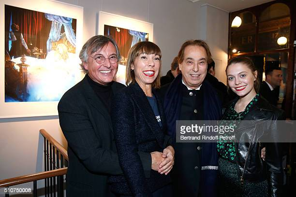 Pierre Passebon Mathilde Favier Gilles Dufour and Mathilde's daughter Eloise Agostinelli attend Arielle Dombasle presents her Perfume Le secret...