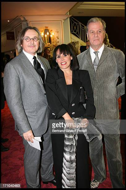 Pierre Passebon Terry De Gunsburg Jacques Grange at The Gala Evening In Aid Of La Maison De Solenn At The Theatre Marigny Followed By A Dinner At...