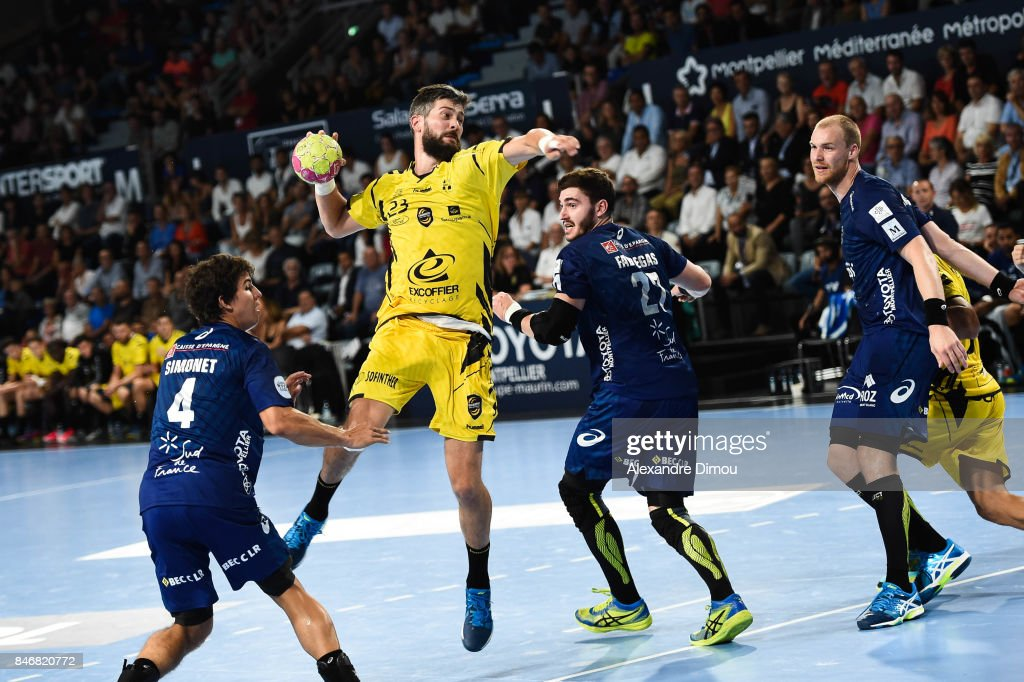 Pierre Paturel of Chambery during Lidl Star Ligue match between Montpellier and Chambery on September 13, 2017 in Montpellier, France.