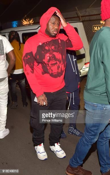 Pierre 'Pee' Thomas attends Trap Du Soleil Celebrating YFN Lucci on February 13 2018 in Atlanta Georgia