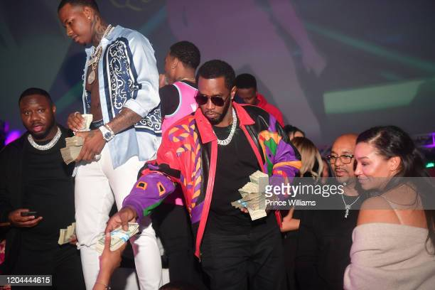 Pierre Pee Thomas Kollision and Sean Combs attend the Million Dollar Bowl at The Dome Miami on February 3 2020 in Miami Florida