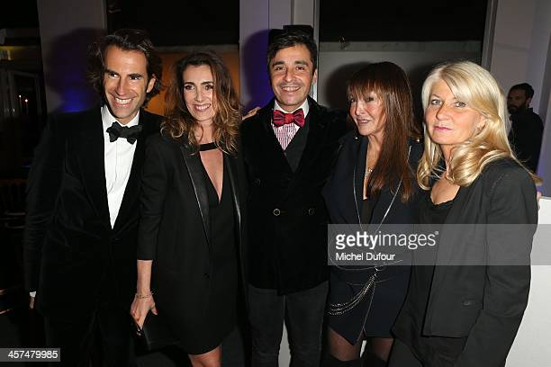 Pierre Pelegri Melle Agnes Ariel Wizman Babeth Djian and Laurence Valensi attend the Annual Charity Dinner Hosted By The AEM Association Children Of...