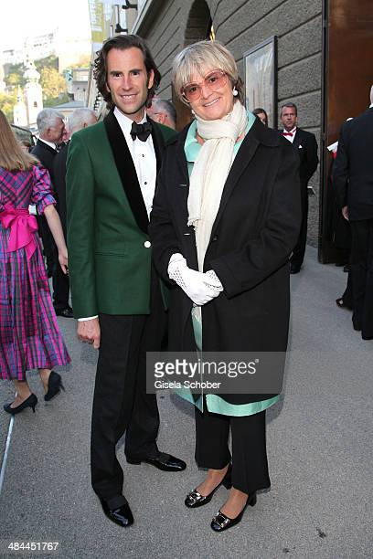 Pierre Pelegry and Gloria von Thurn und Taxis attend the opening of the easter festival 2014 on April 12 2014 in Salzburg Austria