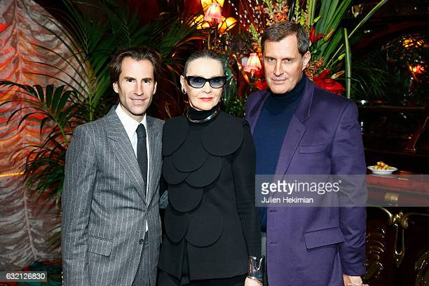 Pierre Pelegry Maryse Gaspard and Jean Pascal Hesse attend the Pierre Cardin Jewellery Presentation as part of Paris Fashion Week on January 19 2017...