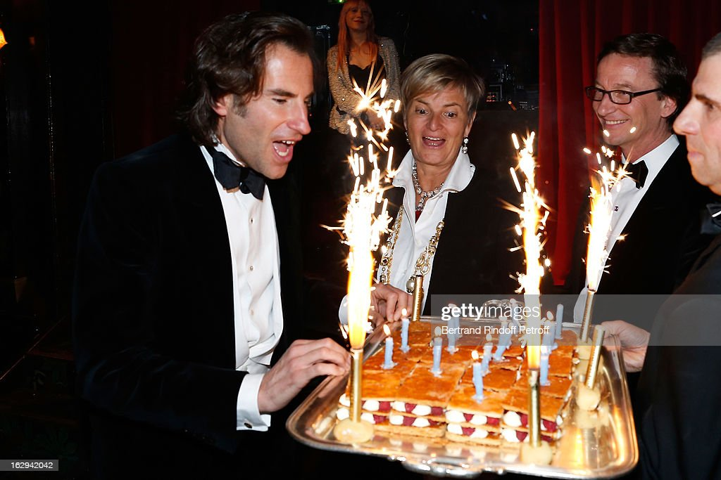 Pierre Pelegry, Princess Gloria von Thurn und Taxis and Thaddaeus Ropac attend Pierre Pelegry's birthday party at Maxim's on March 1, 2013 in Paris, France.