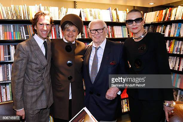 Pierre Pellegry Princess Gloria Von Thurn und Taxis Pierre Cardin and Maryse Gaspard attend Princess Gloria Von Thurn und Taxis signs her Book 'The...