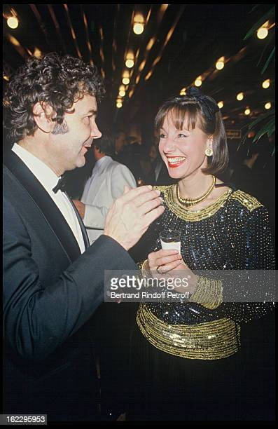 Pierre Perret and Denise Fabre at a party in Paris in 1984