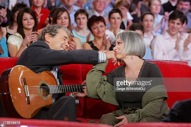 Pierre Perret On 'Vivement Dimanche' Tv Show On April 19Th 2006 In Paris France Here Pierre Perret And Marie Laforet
