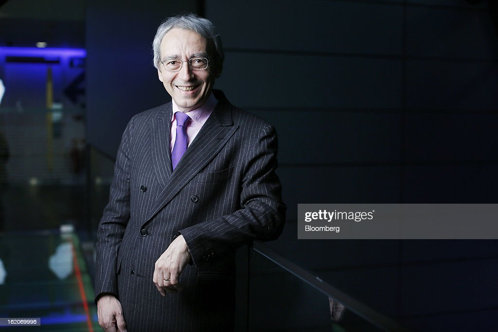 Pierre Pringuet, chief executive officer of Pernod Ricard SA, poses for a photograph following a Bloomberg Television interview in London, U.K., on Tuesday, Feb. 19, 2013. Pernod Ricard SA, the maker of Absolut vodka, indicated an interest in acquiring Jose Cuervo after its biggest competitor failed to buy the tequila brand, though downplayed the prospect of any imminent deal. Photographer: Simon Dawson/Bloomberg via Getty Images