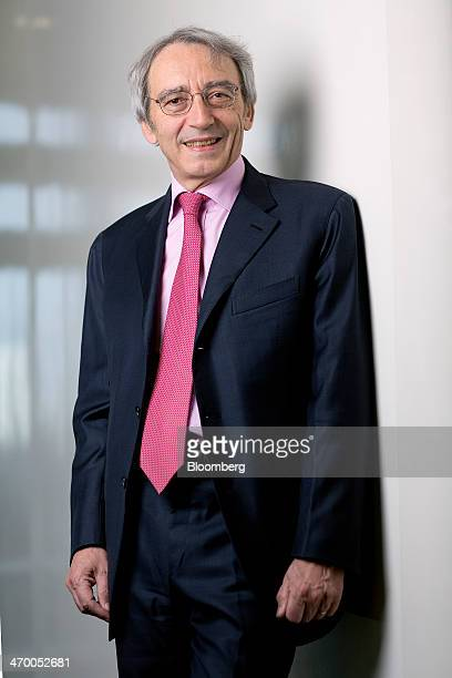 Pierre Pringuet chief executive officer of Pernod Ricard SA poses for a photograph following a Bloomberg Television interview in London UK on Tuesday...