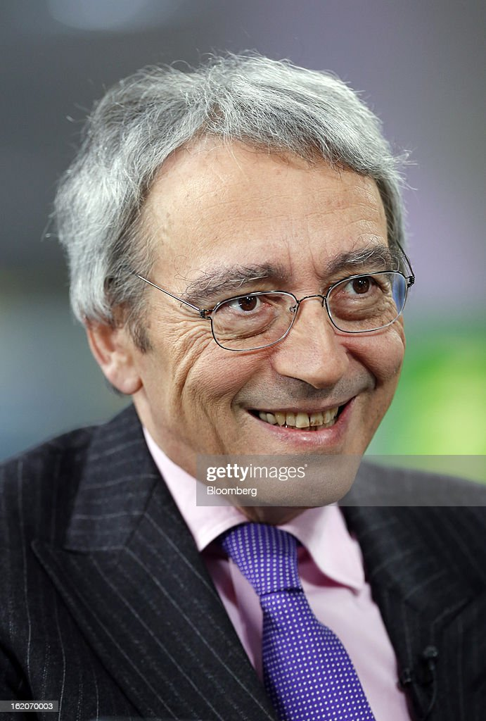 Pierre Pringuet, chief executive officer of Pernod Ricard SA, reacts during a Bloomberg Television interview in London, U.K., on Tuesday, Feb. 19, 2013. Pernod Ricard SA, the maker of Absolut vodka, indicated an interest in acquiring Jose Cuervo after its biggest competitor failed to buy the tequila brand, though downplayed the prospect of any imminent deal. Photographer: Simon Dawson/Bloomberg via Getty Images