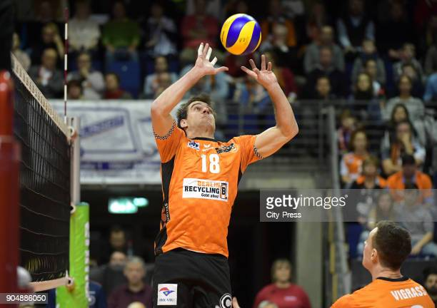 Pierre Pujol of the Berlin Recycling Volleys during the game between the Berlin Recycling Volleys and the SWD powervolleys Dueren on january 14 2018...
