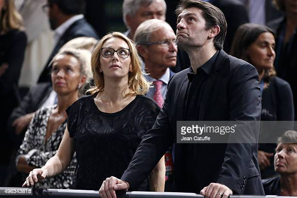 Pierre Rabadan and his girlfriend Laurie Delhostal attend the final on day 7 of the BNP Paribas Masters held at AccorHotels Arena on November 8 2015...