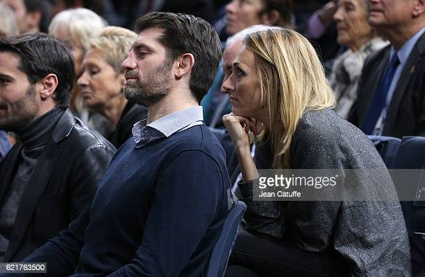 Pierre Rabadan and Laurie Delhostal attend the final of the Paris ATP Masters Series 1000 at AccorHotel Arena aka Palais Omnisports de Paris Bercy on...