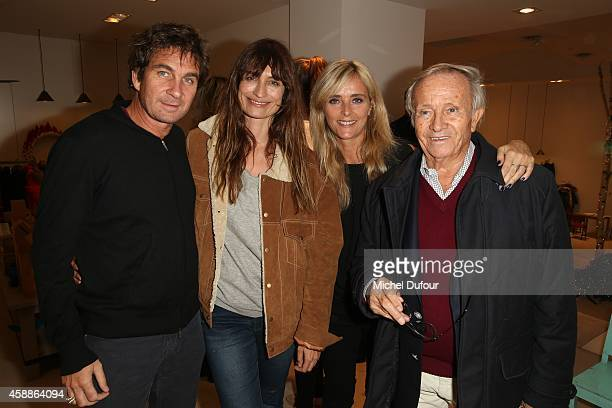 Pierre Rambaldi Caroline de Maigret Marie Poniatowski and Prince Jean poniatowski attend the New Jewellery Collection Cocktail Party At Avenue...