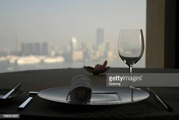 Pierre restaurant at the Mandarin Oriental hotel, Hong Kong, China.