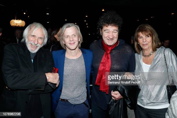 Pierre Richard Alex Lutz Robert Charlebois and his wife Laurence attend the Alex Lutz's concert with the Group of singer Guy Jamet which he played in...