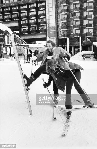 Pierre Richard and Catherine Alric in Avoriaz