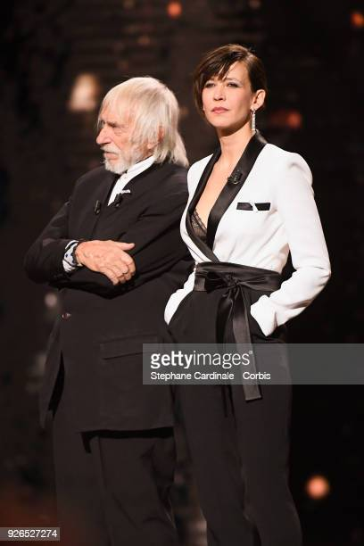 Pierre Richard and Sophie Marceau during the ceremony of the Cesar Film Awards 2018 at Salle Pleyel on March 2, 2018 in Paris, France.