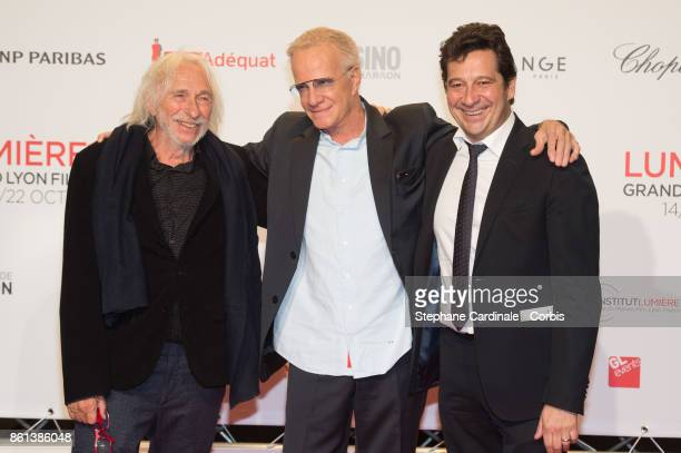 Pierre Richard Christophe Lambert and Laurent Gerra attend the Opening Ceremony of the 9th Film Festival Lumiere on October 14 2017 in Lyon France