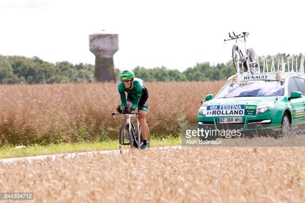 Pierre Rolland Europcar Tour de France Etape 19 Contre la Montre Bonneval / Chartres Photo Alain Bourdaux / Icon Sport