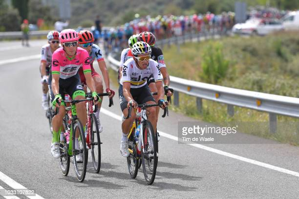 Pierre Rolland of France and Team EF Education First Drapac P/B Cannondale / Ilnur Zakarin of Russia and Team Katusha Alpecin / Sergio Luis Henao...