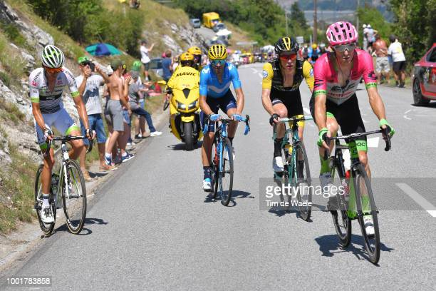 Pierre Rolland of France and Team EF Education First Drapac P/B Cannondale / Steven Kruijswijk of The Netherlands and Team LottoNL Jumbo / Warren...