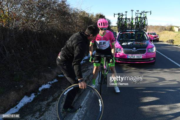 Pierre Rolland of France and Team EF Education FirstDrapac p/b Cannondale / Mechanical Problem / Car / during the 98th Volta Ciclista a Catalunya...
