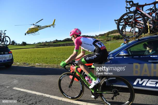 Pierre Rolland of France and Team EF Education FirstDrapac p/b Cannondale / Car / during the 98th Volta Ciclista a Catalunya 2018 Stage 2 a 1756km...