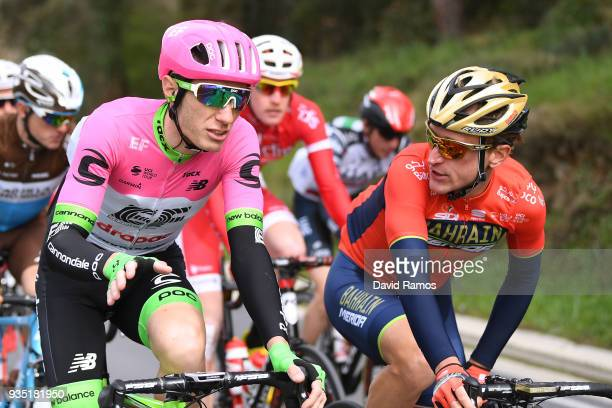 Pierre Rolland of France and Team EF Education FirstDrapac p/b Cannondale / Matej Mohoric of Slovenia and BahrainMerida / during the 98th Volta...
