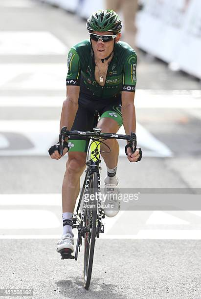 Pierre Rolland of France and Team Europcar finishes 6th of stage seventeen of the 2014 Tour de France a 125 km road stage from SaintGaudens to...
