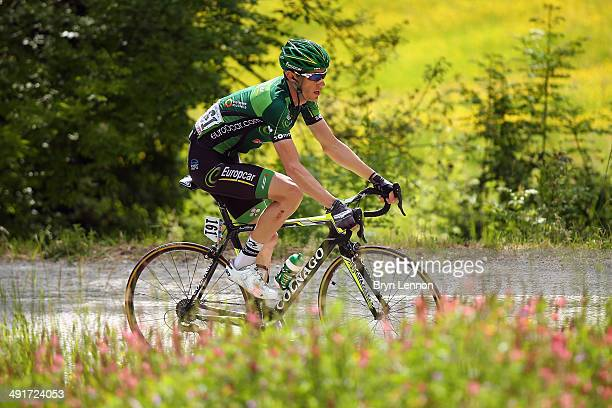 Pierre Rolland of France and Team Europcar in action during the eighth stage of the 2014 Giro d'Italia a 179km medium mountain stage between Foligno...