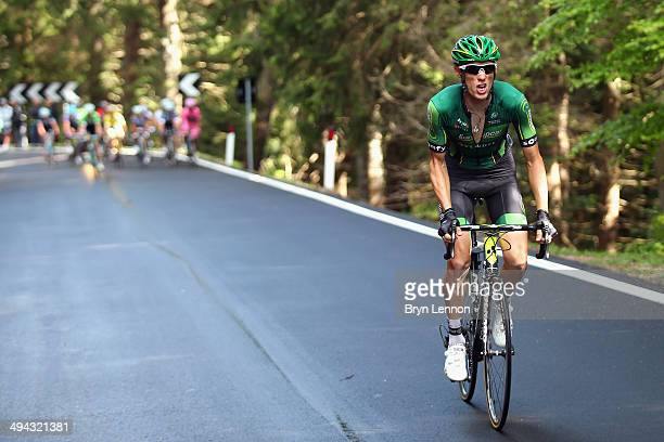 Pierre Rolland of France and Team Europcar in action during the eighteenth stage of the 2014 Giro d'Italia a 171km high mountain stage between...