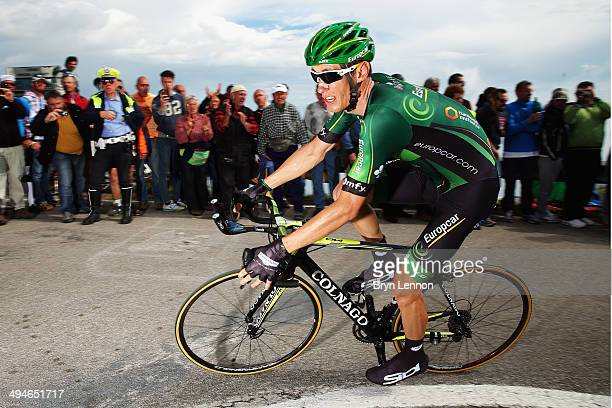 Pierre Rolland of France and Team Europcar in action on the nineteenth stage of the 2014 Giro d'Italia a 27km Individual Time Trial stage between...
