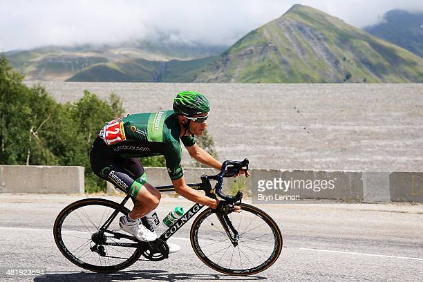 Pierre Rolland of France and Team Europcar rides during the twentieth stage of the 2015 Tour de France a 1105 km stage between Modane Valfrejus and...