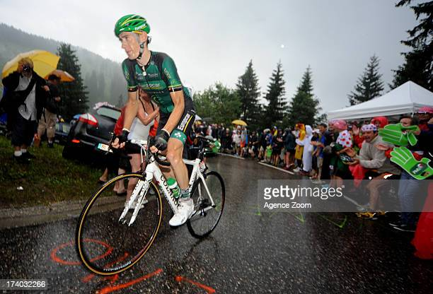Pierre Rolland of Team Europcar during Stage 19 of the Tour de France on Friday 19 July Bourg d'Oisans to Le Grand Bornand France