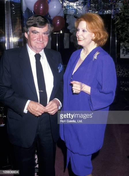 Pierre Salinger and Arlene Dahl during Bastille Day Celebration July 14 1988 at Regine's Restaurant in New York City New York United States