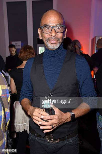 Pierre Sanoussi-Bliss attends the PantaFlix Party on February 17, 2016 in Berlin, Germany.