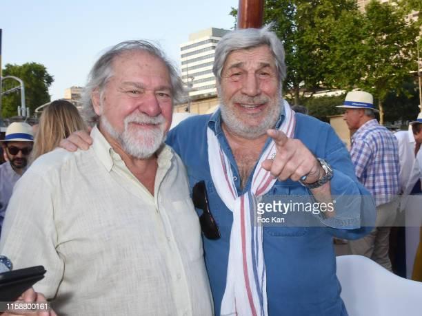 Pierre Santini and Jean Pierre Castaldi attend Petanque Gastronomique 2019 hosted by Daniel Lauclair at Paris Yacht Marina on June 27 2019 in Paris...