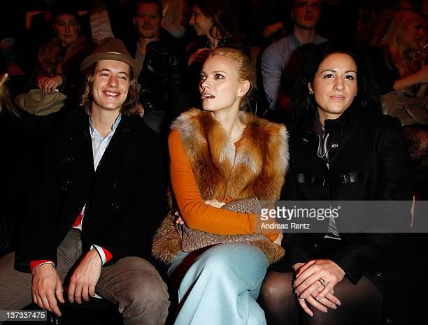 Pierre Sarkozy Franziska Knuppe and Minu BaratiFischer attend the Autumn/Winter 2012 fashion show during MercedesBenz Fashion Week Berlin at...