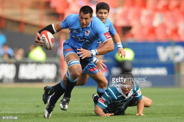Pierre Spies in action during the Absa Currie Cup match between Blue Bulls and GWK Griquas from Loftus Versfeld Stadium on October 03, 2009 in...