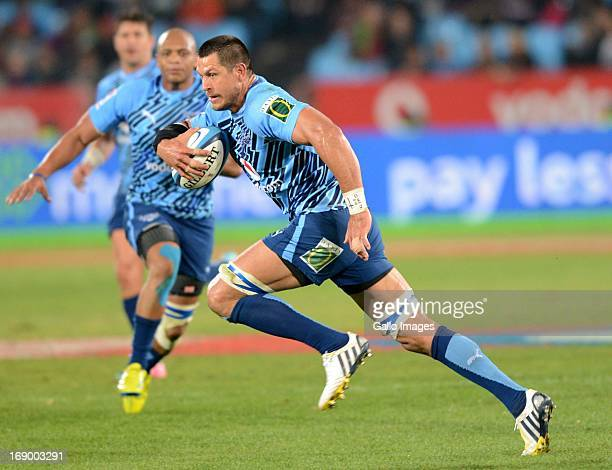 Pierre Spies of Bulls during the Super Rugby match between Vodacom Bulls and Highlanders from Loftus Versfeld on May 18 2013 in Pretoria South Africa
