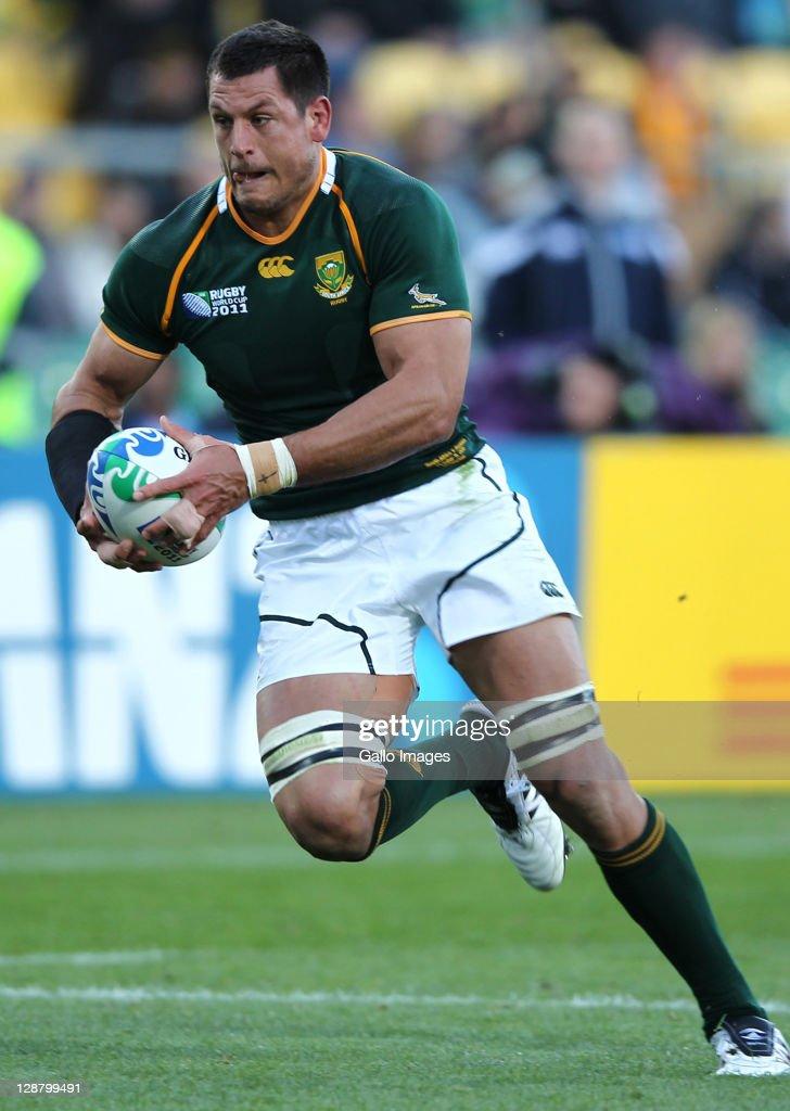 South Africa v Australia - IRB RWC 2011 Quarter Final 3 : News Photo