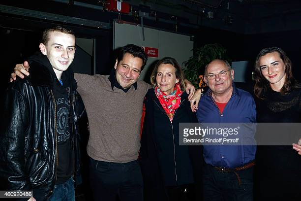 Pierre Stevenin Laurent Gerra Claire Stevenin Jean Francois Stevenin Salome Stevenin attend in Backstage the Laurent Gerra Show at Palais des Sports...