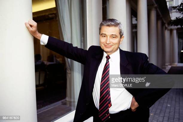 Pierre Suard PDG d'Alcatel Alsthom en France le 3 avril 1991