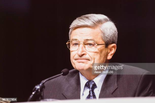 Pierre Suard PDG d'AlcatelAlsthom le 23 juin 1994 à Paris France