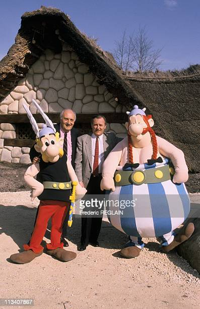 Pierre Tchernia And Albert Uderzo At The Asterix Park On March 28thIn France