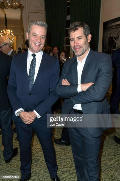 Pierre Thoretton and Jalil Lespert attend the Opening Party at Yves Saint Laurent Museum as part of the Paris Fashion Week Womenswear Spring/Summer...