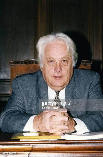 Pierre Truche 1er Président de la cour de cassation de Paris au 25ème Cogrès francoallemand des juristes 17 octobre 1997 Paris France